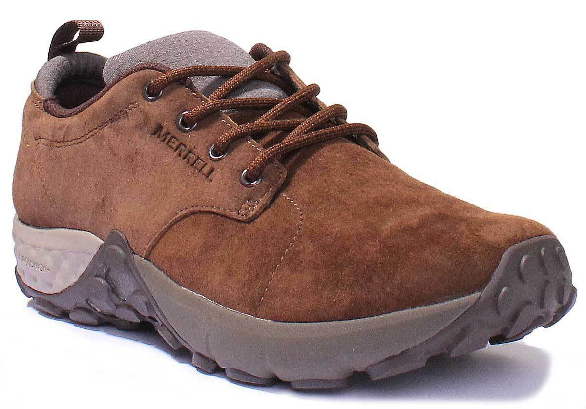 Merrell Jungle Lace AC+ Mens Nubuck Leather Brown Trainers UK Size 6 - 12