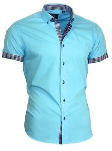 Hemd-Herrenhemd-ohne-Brusttasche-Kurzarm-Shirt-Binder-de-Lux-83305-tuerkis