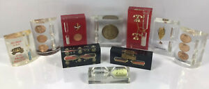 Lot-Of-10-Vintage-Lucite-Timer-Sand-Hourglass-Paperweight