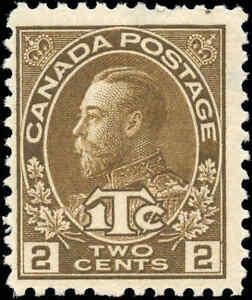 Mint-Canada-2c-1c-1916-Scott-MR4i-War-Tax-Stamp-Hinged