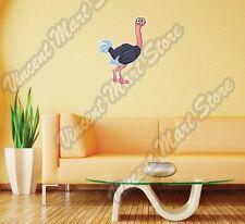 "Cute Ostrich Australia Bird Funny Wall Sticker Room Interior Decor 18""X25"""