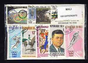 Mali-100-stamps-different
