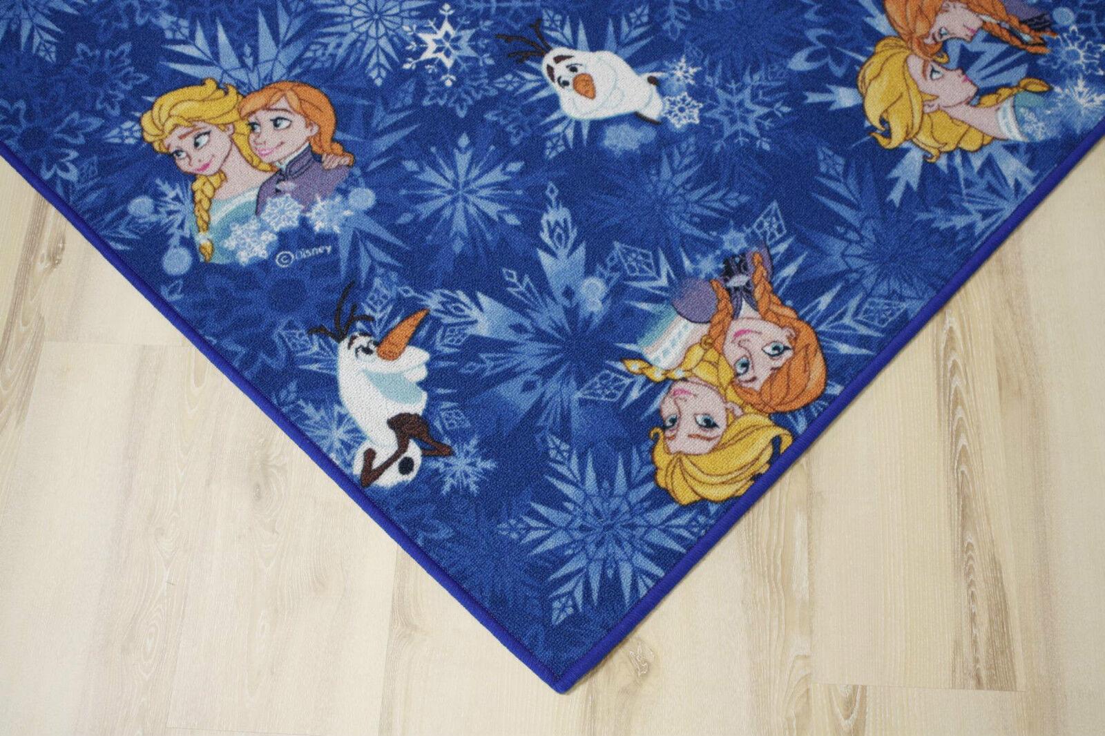 Enfants Tapis Jeu Tapis Reine Frozen Bleu 400x490 cm Elsa Anna Olaf