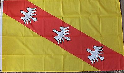 Lorraine France Flag 5x3 French Region Francais Heraldic Heraldry Medieval bn