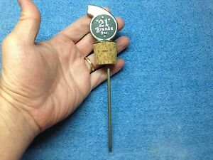 "vintage BAR POURER BOTTLE STOPPER SPOUT Jigger Shot Liquor ""21"" Brands Inc"