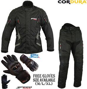 Homme Moto Moto Course Cordura Costume Cuir assorties Gants