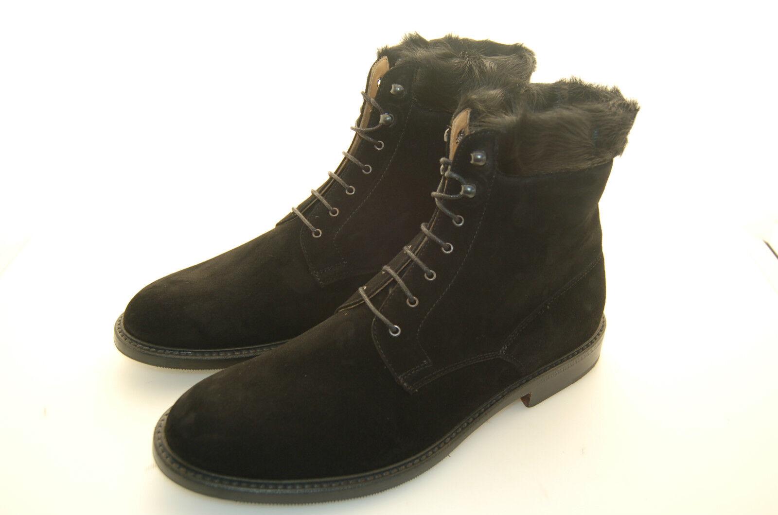 WOMAN - LACE BOOTS - STIVALETTO - SUEDE BLACK - CAMOSCIO black - LTH SOLE+½RUBBER