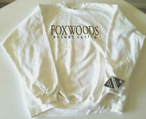 Foxwoods-Resort-Casino-Mens-Sweatshirt-XL-White-NWT-Cotton-Exchange-Classic