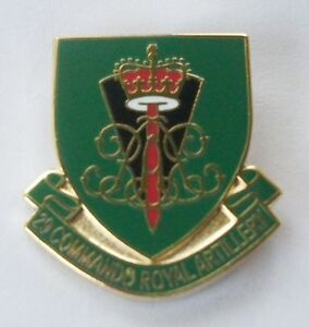 29-COMMANDO-ROYAL-ARTILLERY-SHIELD-LAPEL-PIN-OR-WALKING-STICK-MOUNT