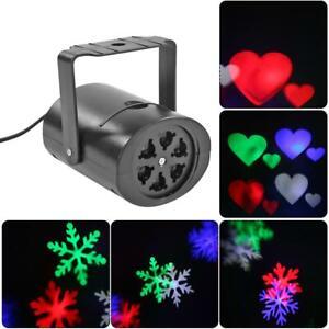 LED Landscape Light Snowflake//Moon//Star//Love heart Laser Projector Disco Xmas DJ