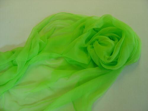 XL Sciarpa SEIDENSCHAL 100/% seta chiffon 230x55cm STOLA rolliert a mano in 13 colori