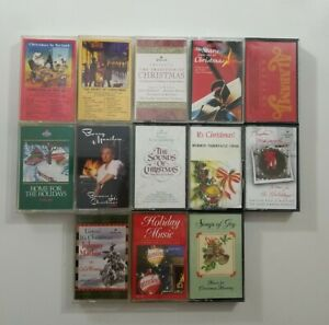 Christmas Music Cassette Lot of 13 Titles SEE DESCRIPTION FOR TITLES
