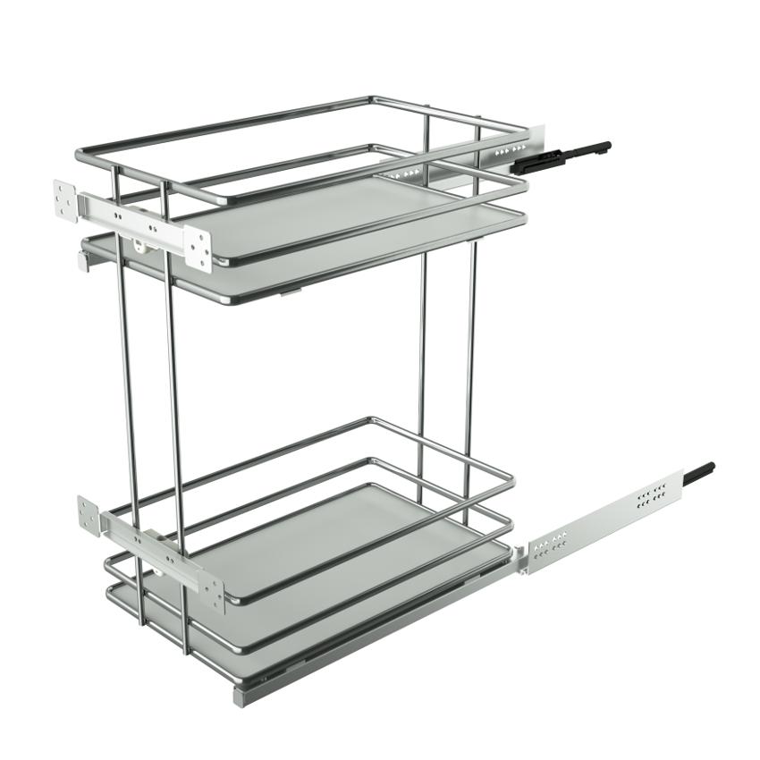 Portabottiglie Estraibile Standard con rientro ammortizzato 26x55xH42,50 cm