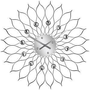 Details zu XL Wanduhr Design Quartz Uhr Küchenuhr Bürouhr Wohnzimmer Modern  Analog 60cm NEU