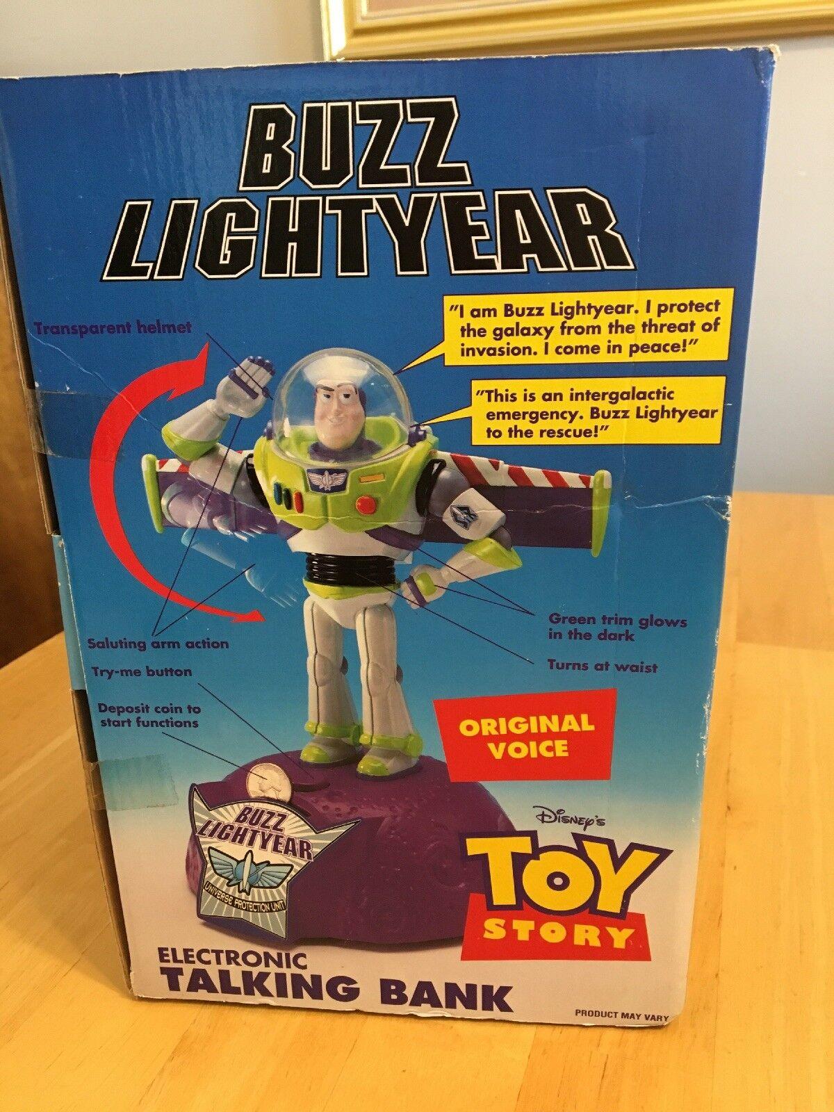 Toy Story Buzz Buzz Buzz Lightyear Electronic Talking Bank Thinkway Toys New In Box ffb7b1