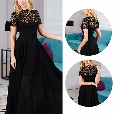 Sexy Long Formal Lace Dress Party Cocktail Evening Prom Gown Wedding Maxi Dress