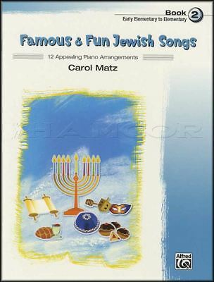 Adaptable Famous & Fun Jewish Songs Piano Sheet Music Book 2 Early Elementry To Elementry 2019 New Fashion Style Online