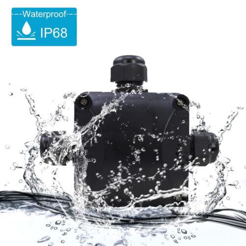 Klemmdose Wasserdicht mit 3 Kabelanschlüsse Verteilerdose Abzweigdose IP68 230V