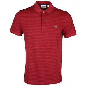 f778cdeb65ff0c Image is loading Lacoste-PH9099-Regular-Fit-Passion-Red-Stripe-Polo