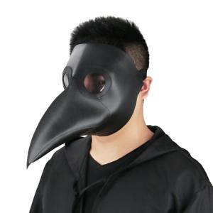 Plague Doctor Mask Birds Long Nose Beak Faux Leather Steampunk Halloween Costume