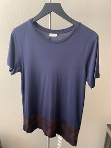 Dries-Van-Noten-Men-s-Navy-Camo-T-shirt-Small