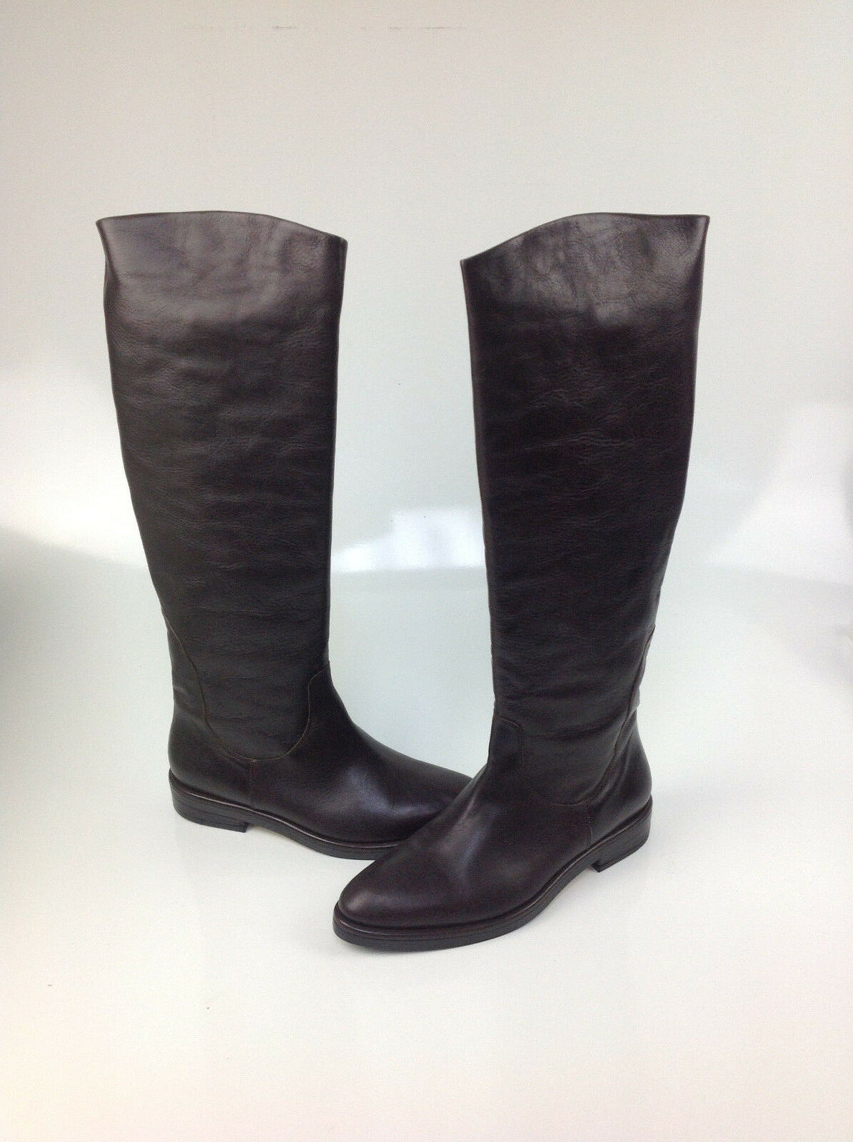 790 Roberto Del Carlo Sesia Pompei T Mgold Leather Boots, Size  EUR 39.5   US 9