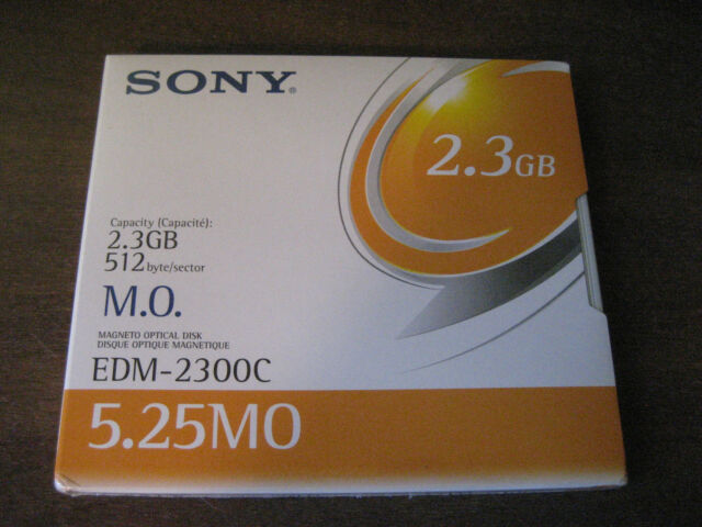Sony EDM-2300C - 2.3Gb 512 B/S - Rewritable Magneto Optical Disk - New & Sealed