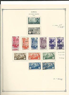 Libyen Sammlung 1941 To 1976 On 12 Scott International Seiten