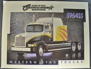 1998-1999 Western Star Constellation Semi Truck Brochure Sheet 5964SS Original
