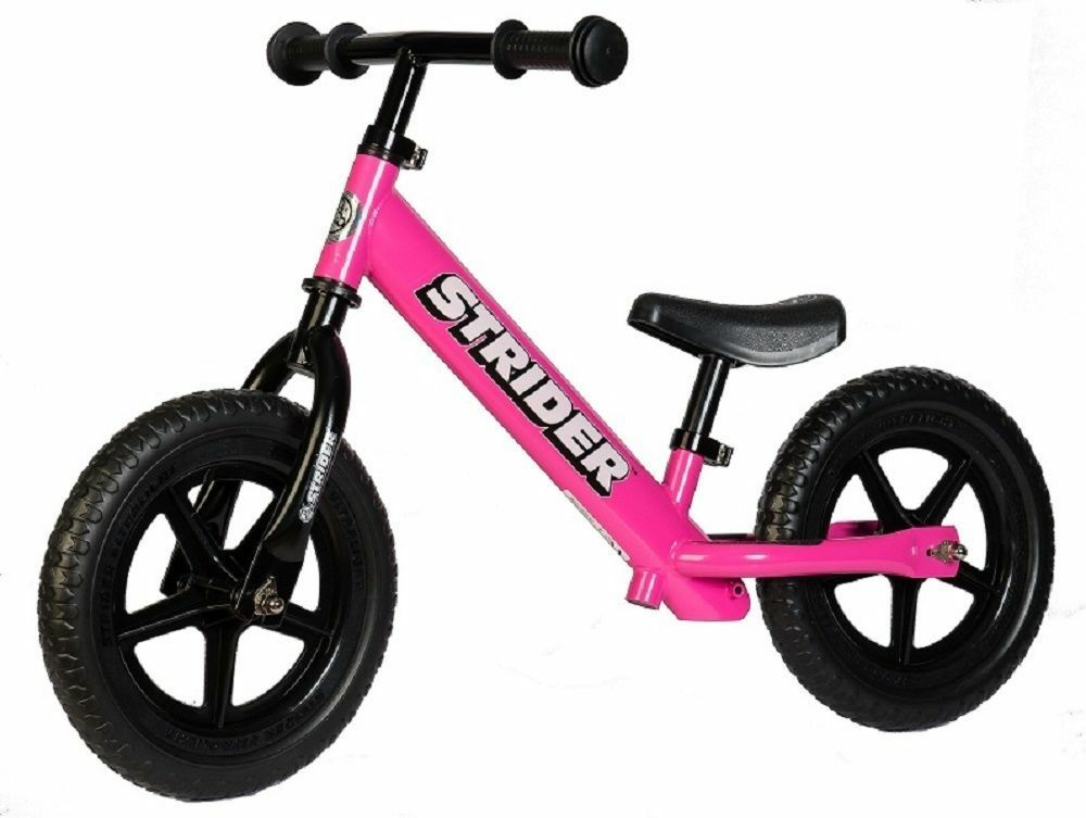 STRIDER Balance Bike Pink 12 Classic Kids No Pedals Learn to Ride