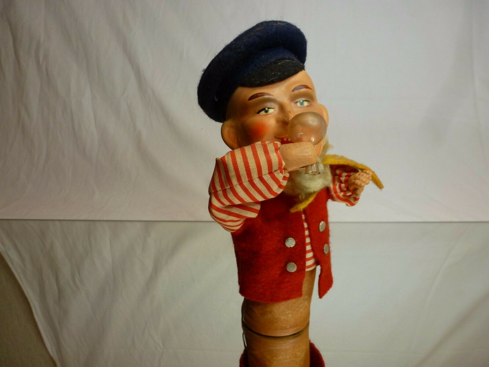 VINTAGE DDR DRINKING PUSH PUPPET IN TRADITIONAL CLOTHES - L20.0cm - NICE