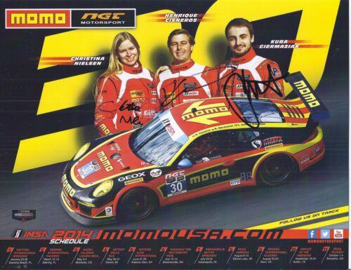 2014  IMSA TUDOR 12 Hours of Sebring NGT Porsche #30 Hero Card SIGNED