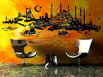 A-642 Wandtattoo Istanbul SKYLINE Türkiye Türkei Wandaufkleber Sticker Boot Kiz