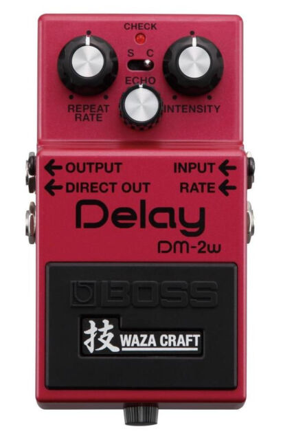 BOSS DM-2W Delay WAZA CRAFT GUITAR EFFECTS PEDAL ANALOG