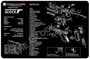 image is loading glock-work-bench-mat-large-diagram-great-for-