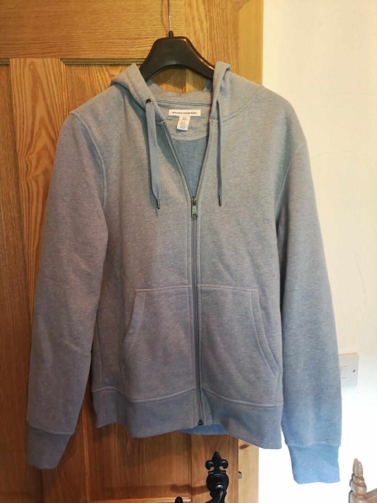 Amazon Essentials Men's Full Zip Hooded Top hoodie Size XS SMALL BLUE RRP