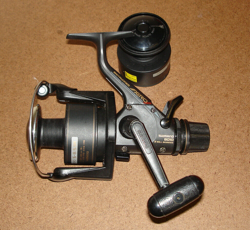 Vintage reel Shimano 8010 Aero baitrunner + spare spool