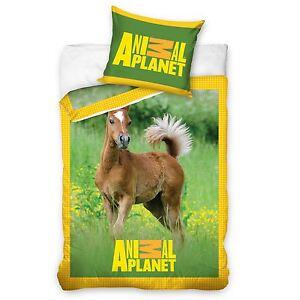 Poulain-Animal-Planet-Couverture-amp-Housse-D-039-Oreiller-Simple