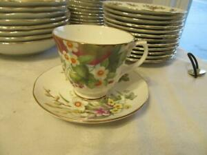 DUCHESS-BONE-CHINA-CUP-AND-SAUCER-SET-SPRING-PATTERN