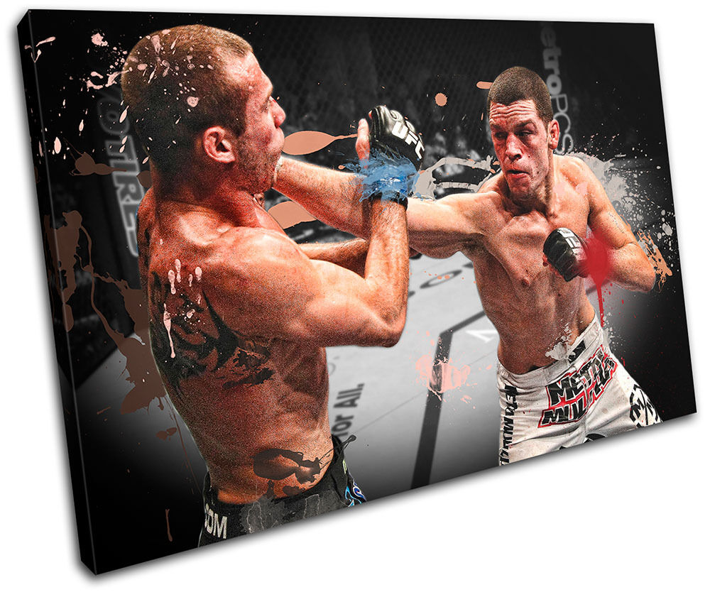 MMA Nate Diaz  Sports SINGLE TOILE murale ART Photo Print