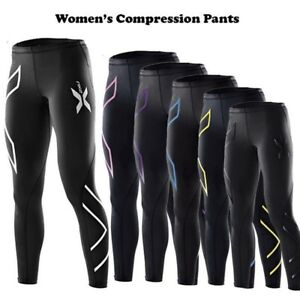 2XU-Women-Compression-Pants-Tights-Elastic-Yoga-Pants-Fitness-Gym-Running