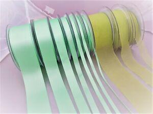 Berisfords-MINT-56-Double-Faced-Satin-amp-Sheer-Ribbon-3mm-to-70mm-full-range