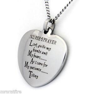 Nurses prayer heart shaped pendant or serenity prayer heart necklace image is loading nurses prayer heart shaped pendant or serenity prayer aloadofball Images