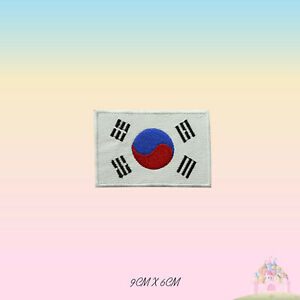 South-Korea-National-Flag-Embroidered-Iron-On-Patch-Sew-On-Badge-Applique