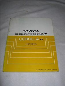 Details about 1987 Toyota COROLLA AE86 Shop Repair Service Manual  on