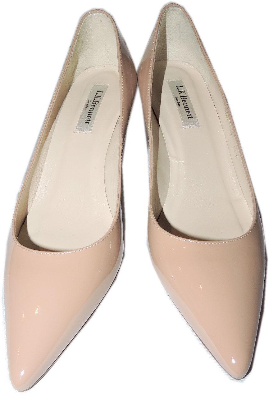 348 L.k. Bennett Nude Beige Leather Floret Classic Classic Classic  Pumps  shoes Sz. 38 afdec9