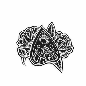 Mystique Ouija Planchette With Roses Large Embroidered Iron-on Patch
