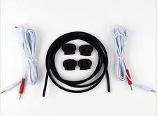 4mm DIY Conductive Rubber Tubing Kit Cables Electrosex E-stim Electro Shock
