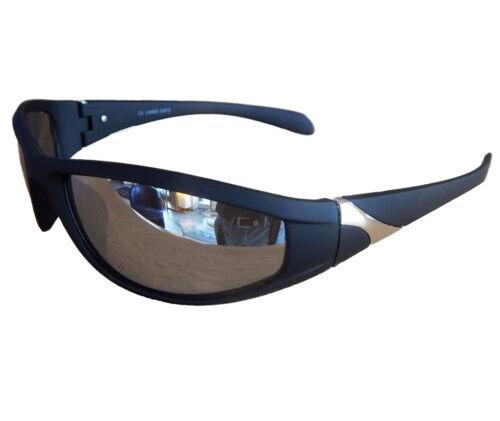 Radbrille Sportbrille Sonnenbrille Schwarz Silber verspiegelt Fahrrad Brille M23