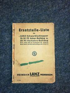 Sammlerstueck-Ersatzteilliste-LANZ-Schweroelschlepper-12-20-PS-1935